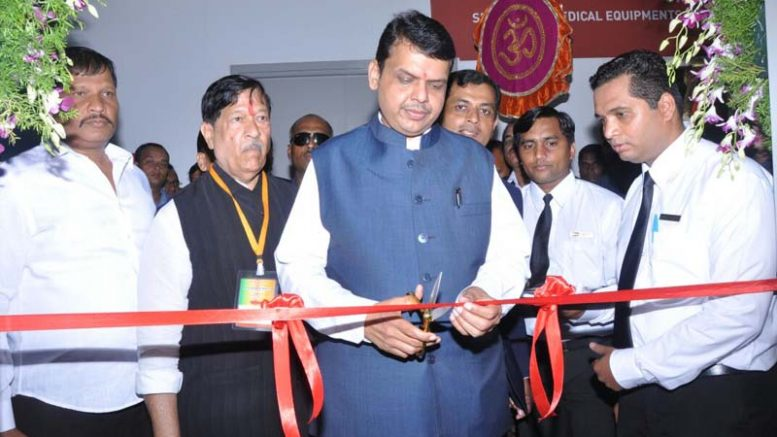 Honorable Chief Minister of Maharashtra Shri Devendraji Phadnavis along with other dignitaries inaugurating the pavilion